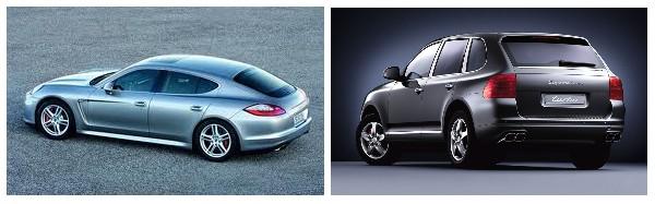 panamera and cayenne cars