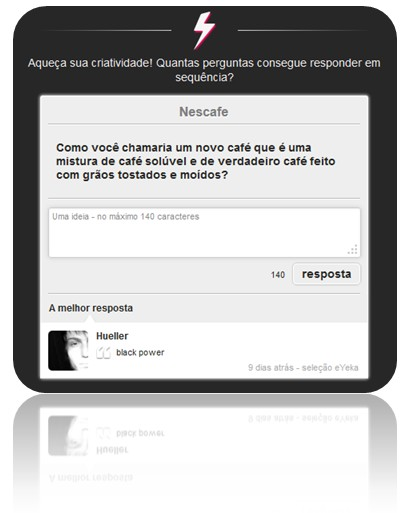 eYeka quick questions in Portuguese