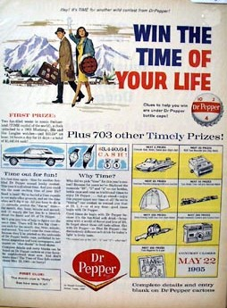 win the time of your life advertising contest poster
