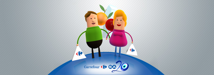 In January, CarrefourSA officially launched its 20th anniversary campaign on Turkish TV, featuring design and animation of eYeka's contest winner Baris Aatiker