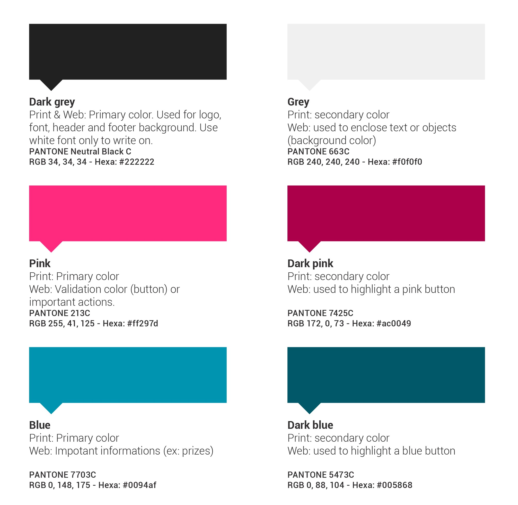 eYeka Colors for Print & Web
