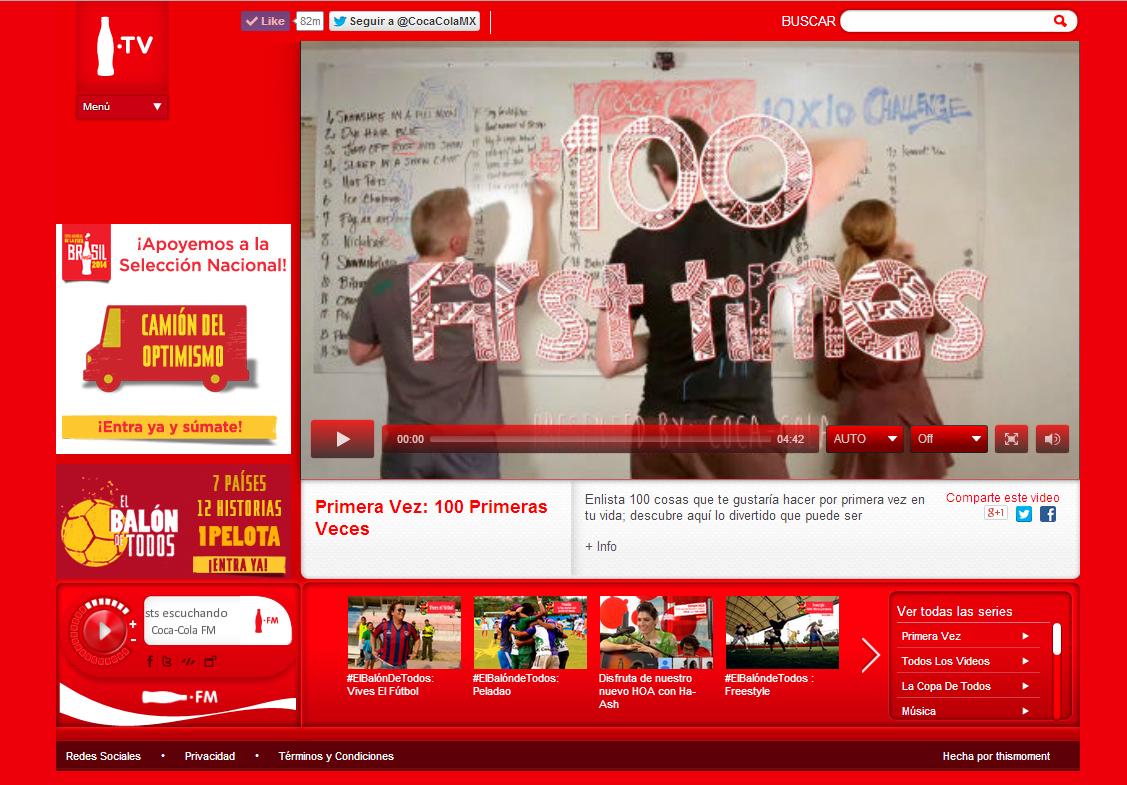 A screenshot of the winning video on Coke.TV