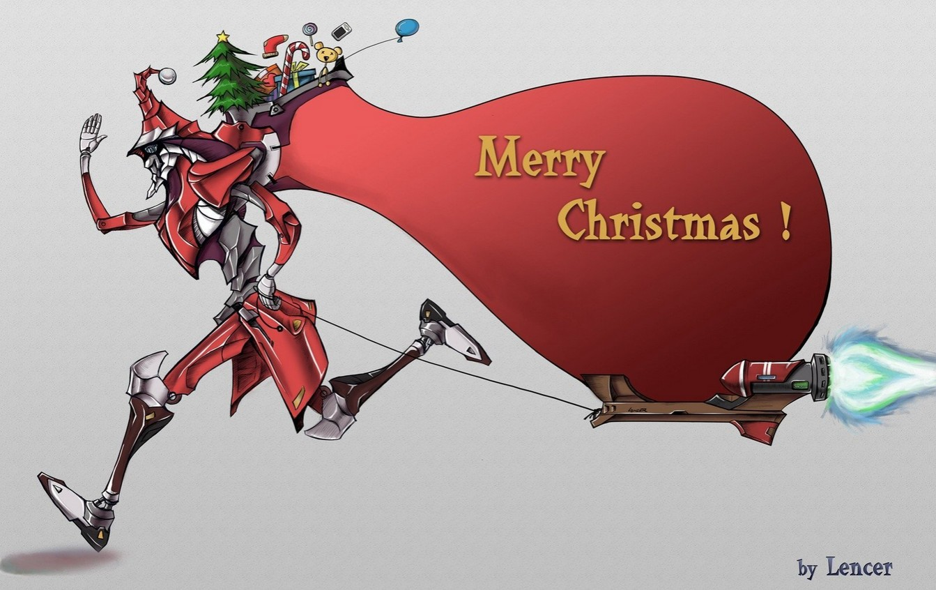 Santa Claus has a new technology, he uses an accelerator for his delivery machine, so he can delivery the gift within one day (by Lencer from China).