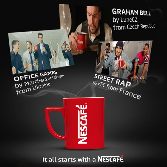 Three of the eight winners of the Nescafé contest (click to see all)