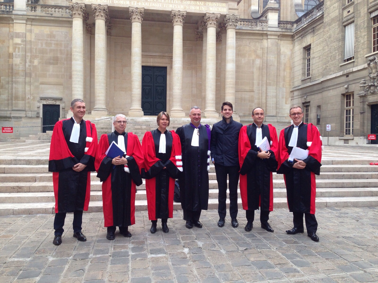The jury: François Pétavy (CEO of eYeka), Prof. Decuadin (Toulouse University), Prof. Le Nagard (ESSEC Business School), Rector Steyer (Sorbonne University), me, Prof. Lemoine (Sorbonne University), Prof. Morisse (ESSCA School of Management)