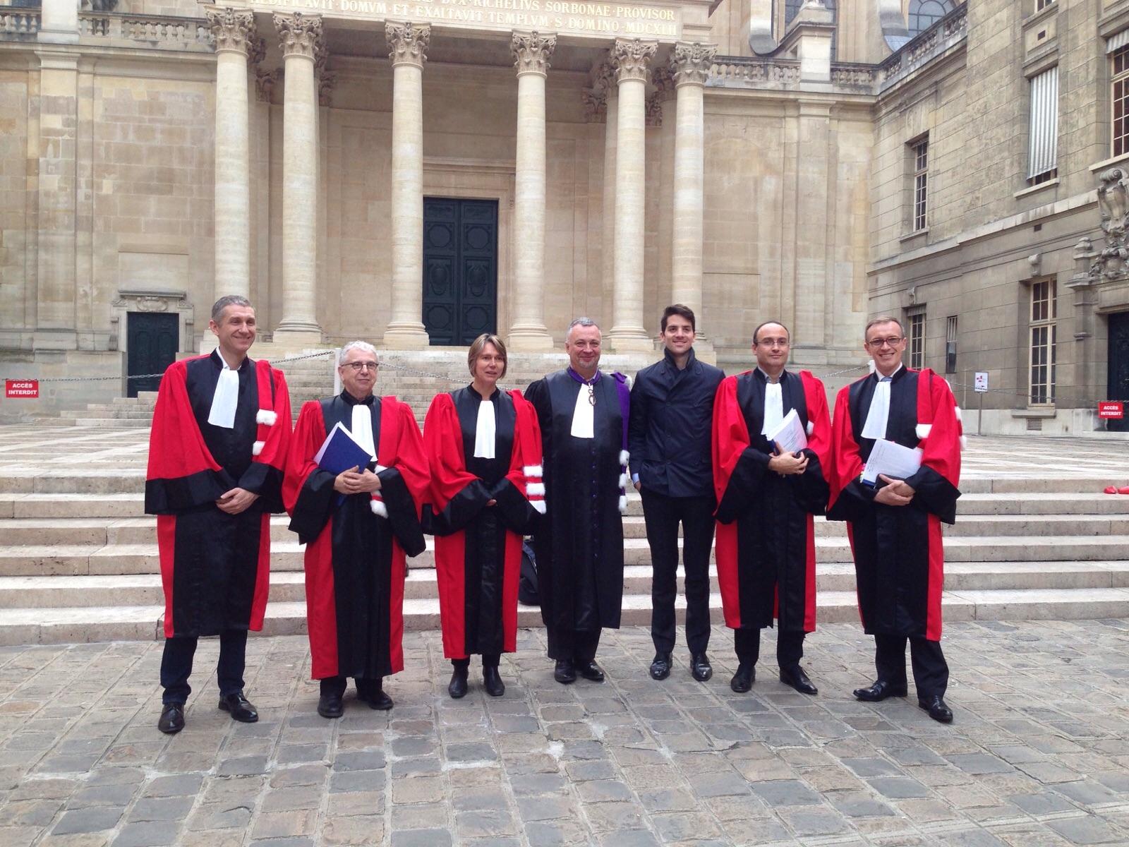 The jury: François Pétavy (CEO of eYeka), Prof. Decuadin (Toulouse University), Prof. Le Nagard (ESSEC Business School), Rector Steyer (Sorbonne University), me, Prof. Lemoine (Sorbonne University), Prof. Morisse (ESSCA School of Management)