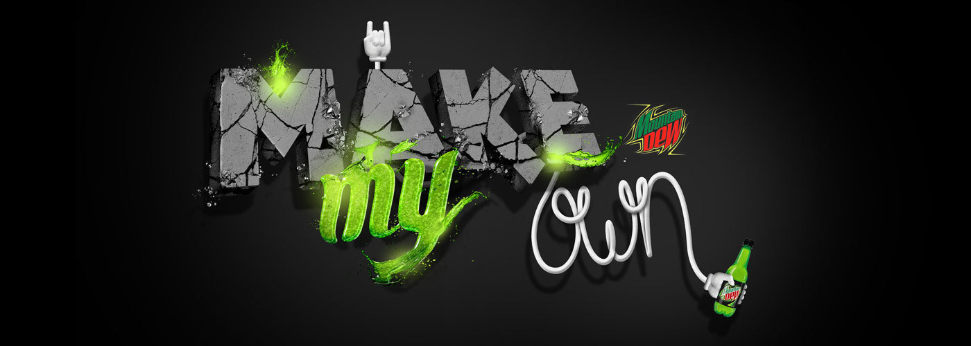 eYeka PEPSICO Mountain Dew Make My Own - contest banner